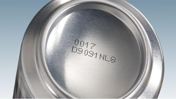 饮品行业金属喷码应用