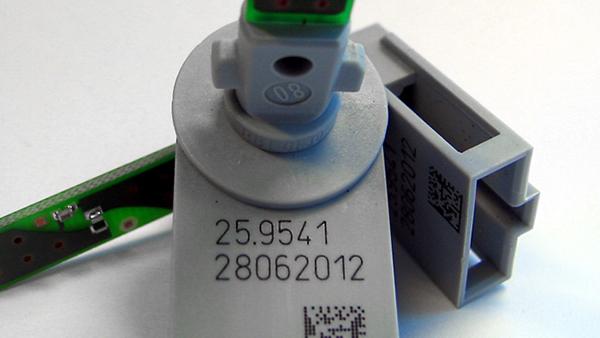 电子塑料喷码应用